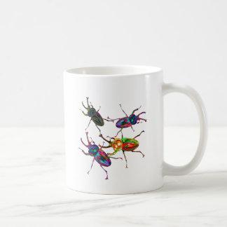 Freaky Cool Rainbow Stag Beetles Coffee Mug