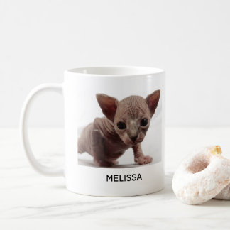 Freaky Cute Furless Sphynx Kitten Coffee Mug