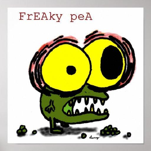 Freaky Pea Poster