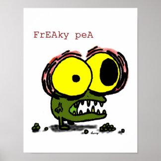 Freaky Pea Print