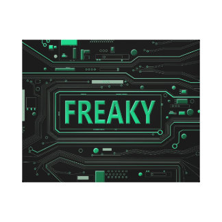 Freaky tech. canvas print