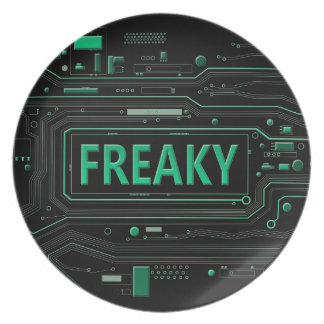 Freaky tech. dinner plate
