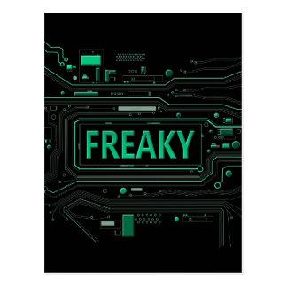 Freaky tech. postcard