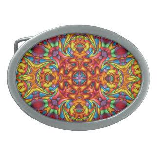 Freaky Tiki Kaleidoscope  Belt Buckle