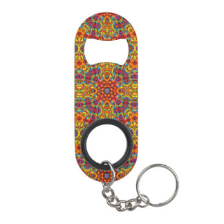 Freaky Tiki Kaleidoscope  Bottle Openers, 3 styles Mini Bottle Opener