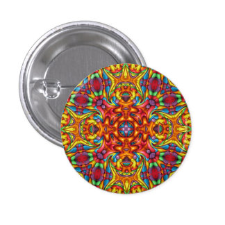Freaky Tiki Kaleidoscope Buttons And Pins