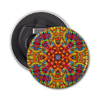 Freaky Tiki Kaleidoscope  Magnetic Bottle Openers