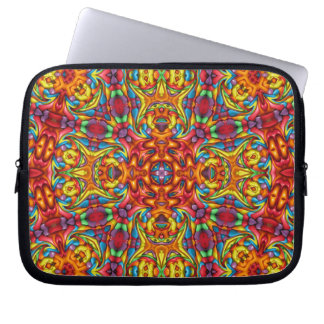 Freaky Tiki Kaleidoscope   Neoprene Laptop Sleeve