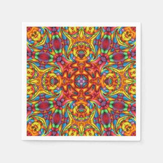 Freaky Tiki Kaleidoscope    Paper Napkins, 5 style Paper Napkin