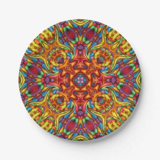 Freaky Tiki Kaleidoscope  Paper Plates