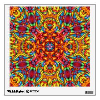 Freaky Tiki Kaleidoscope  Wall Decal. 4 shapes Wall Sticker