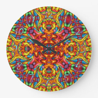 Freaky Tiki Pattern Clocks