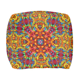 Freaky Tiki Pattern    Pouf Cube, 2 sizes
