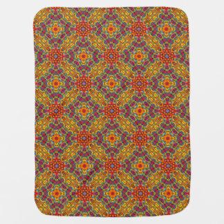 Freaky Tiki  Tiled Design Baby Blankets