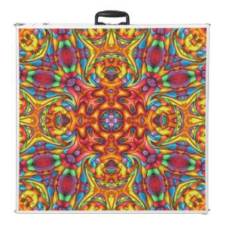 """Freaky Tiki Vintage Kaleidoscope   96""""  Pong Table"""