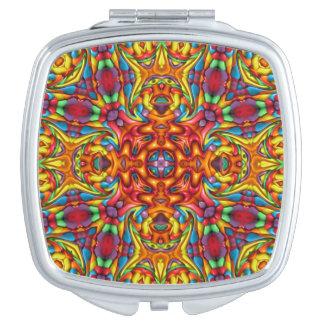 Freaky Tiki Vintage Kaleidoscope  Compact Mirror