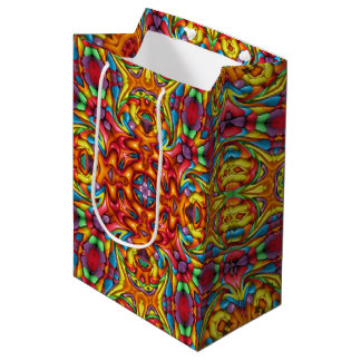 Freaky Tiki Vintage Kaleidoscope Medium Gift Bag