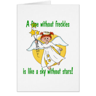 Freckled Face Angel Card