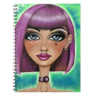Freckled Girl Spiral Notebook