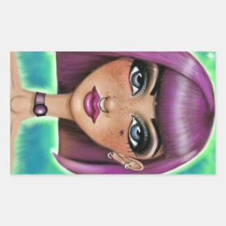 Freckled Girl Sticker