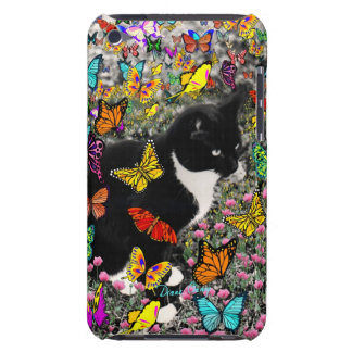 Freckles in Butterflies - Tuxedo Kitty Barely There iPod Cover