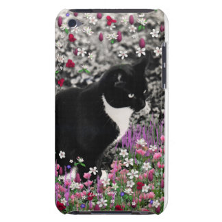Freckles in Flowers II - Black and White Kitty iPod Case-Mate Case