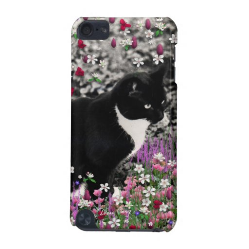 Freckles in Flowers II - Tuxedo Kitty Cat iPod Touch (5th Generation) Cover