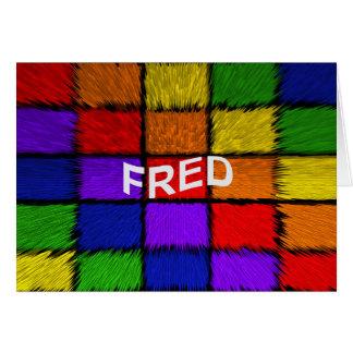 FRED CARD