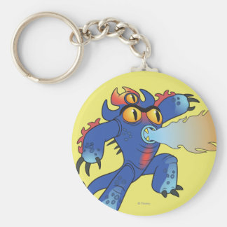 Fred Flamethrowers Basic Round Button Keychain