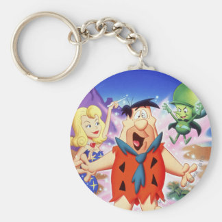 Fred Flintstone Under A Spell Basic Round Button Keychain