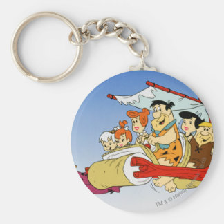 Fred Flintstone Wilma Barney and Betty PEBBLES™ Keychain
