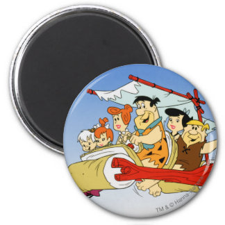 Fred Flintstone Wilma Barney and Betty PEBBLES™ Magnet