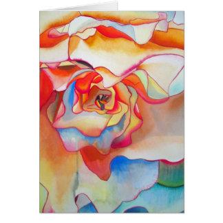 Fred martin begonia watercolour art card