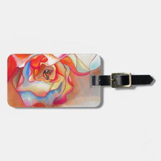 Fred martin begonia watercolour art luggage tag