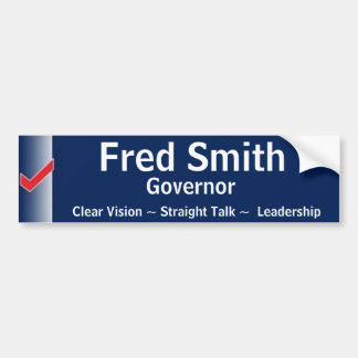 Fred Smith for Governor Bumper Sticker