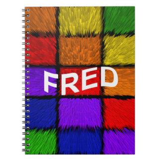 FRED SPIRAL NOTEBOOK
