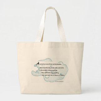 Fred The Amoeba - A SmartTeePants Science Poem Large Tote Bag