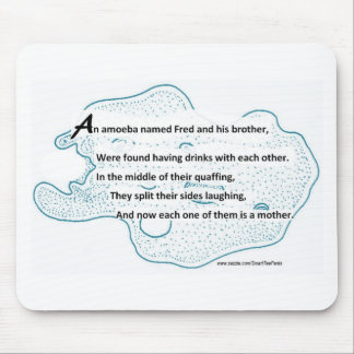 Fred The Amoeba - A SmartTeePants Science Poem Mouse Pad