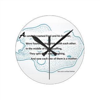 Fred The Amoeba - A SmartTeePants Science Poem Round Clock