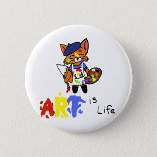 Fred the Fox- Artist 2 Inch Round Button