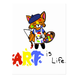 Fred the Fox- Artist Postcard