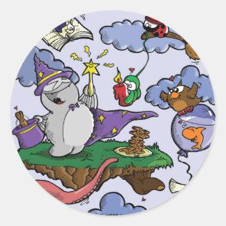 Fred the Wizard Round Sticker