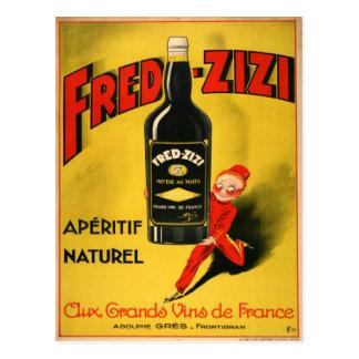 Fred-Zizi Vintage French Advertising Postcard