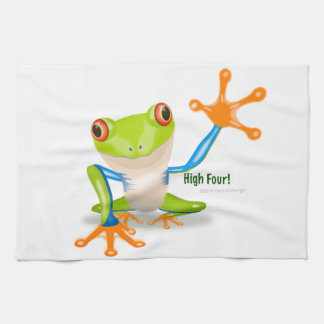 "Freddie Frog ""High Four"" Kitchen Towel"