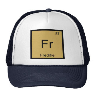 Freddie Name Chemistry Element Periodic Table Trucker Hat