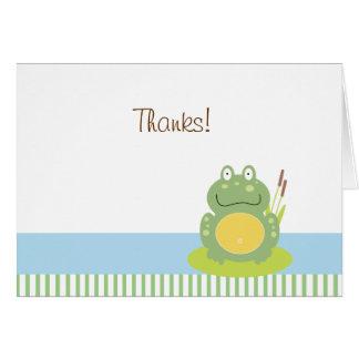 Freddy la carte de note pliée par grenouille de