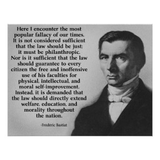 Frederic Bastiat The Law Poster