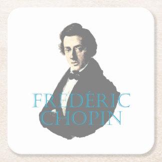 Frédéric Chopin portrait Square Paper Coaster