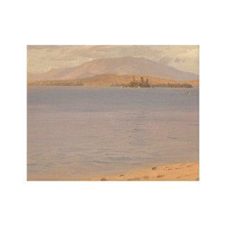 Frederic Edwin Church - Mount Katahdin from Lake Canvas Print