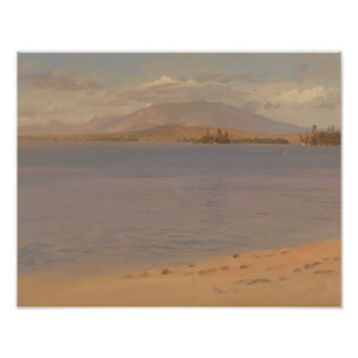 Frederic Edwin Church - Mount Katahdin from Lake Poster